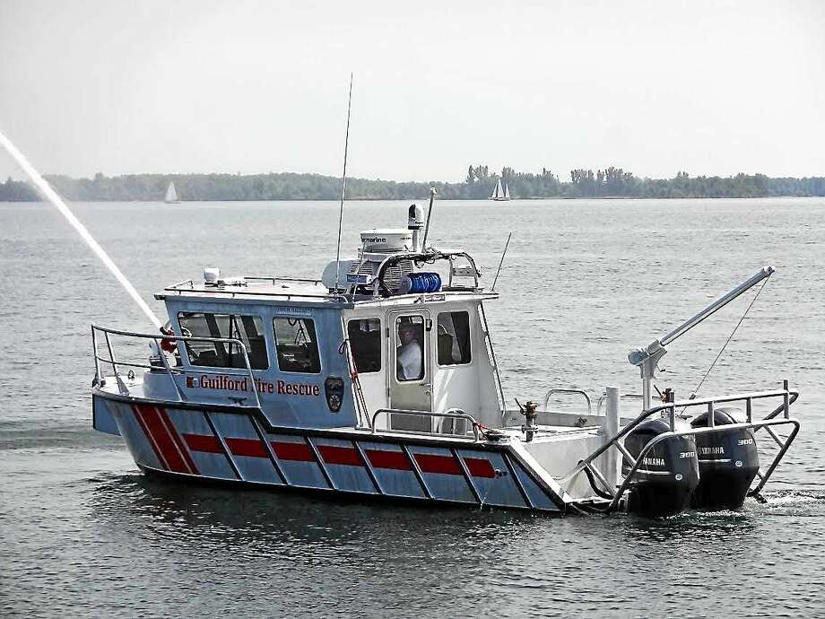 The new Guilford fire boat is ready for emergencies on the water and on the Shoreline, officials say. Photo: Journal Register Co.