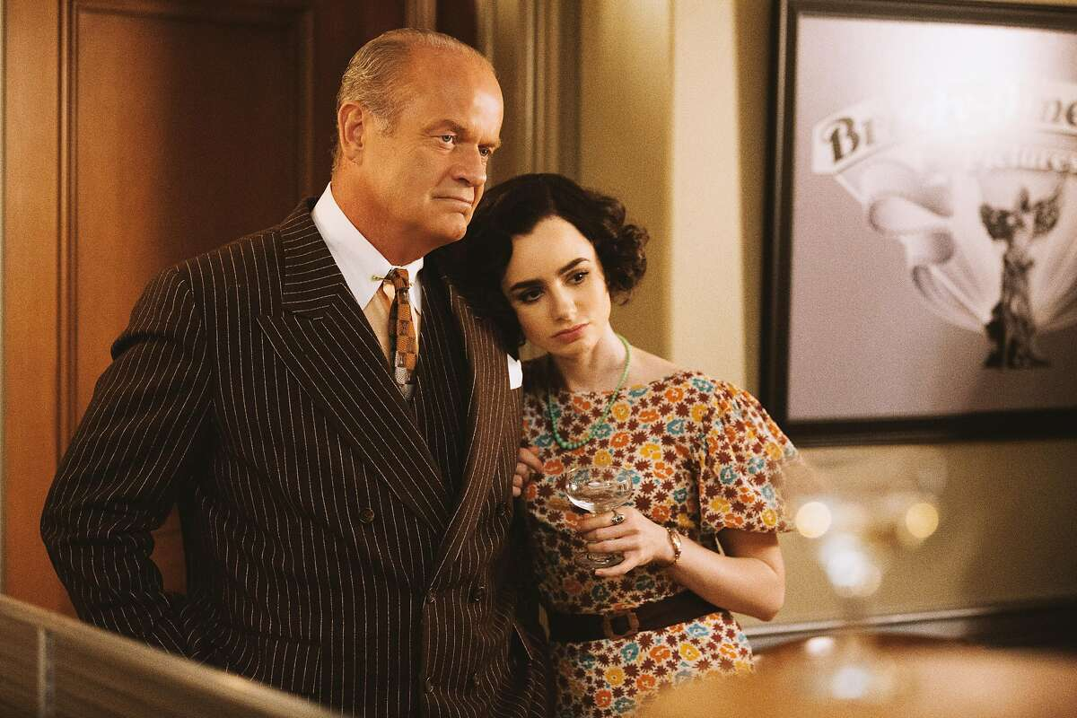 The Last Tycoon stars, from left to right, Kelsey Grammer as Pat Brady and Lily Collins as Celia Brady