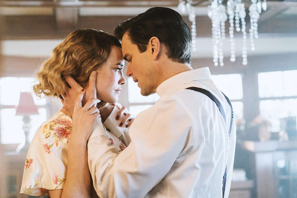 The Last Tycoon, starring from left to right, Dominique McElligott as Kathleen Moore and Matt Bomer as Monroe Stahr