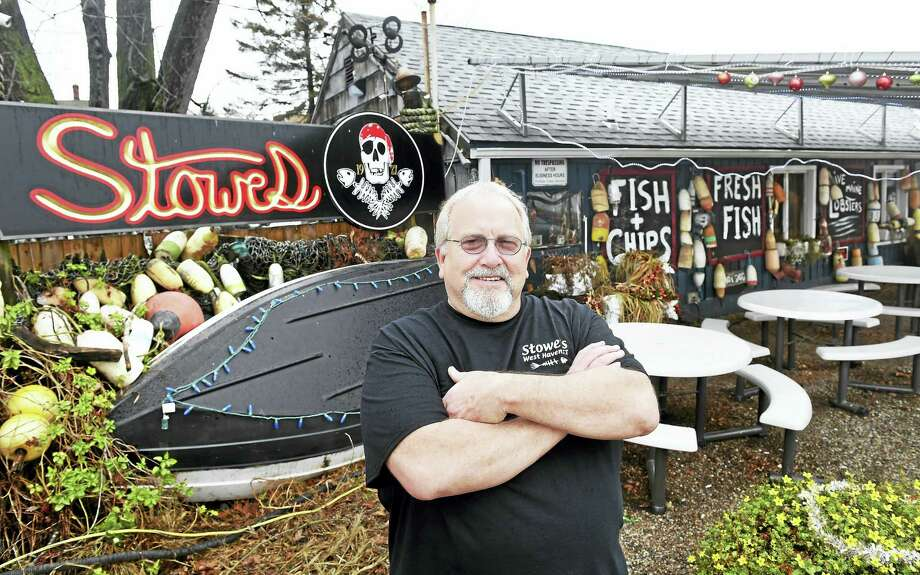 ARNOLD GOLD — NEW HAVEN REGISTER  Stowe's Seafood owner Wayne Capone outside of the business he established 35 years ago on Beach Street in West Haven. Photo: Journal Register Co.