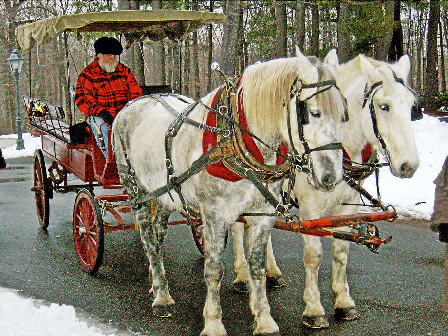 Horse-drawn carriage rides will be available at Wadsworth Mansion. Photo: Contributed