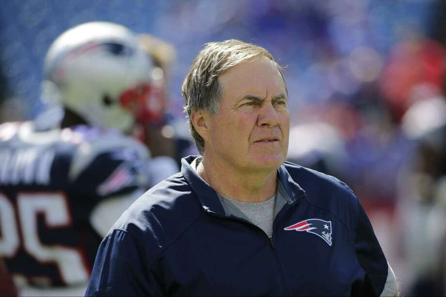 The Register Dan Nowak says despite the big spread, the Bill Belichick led Patriots will be able to cover this week against the Jaguars. Photo: The Associated Press   / FR170745 AP