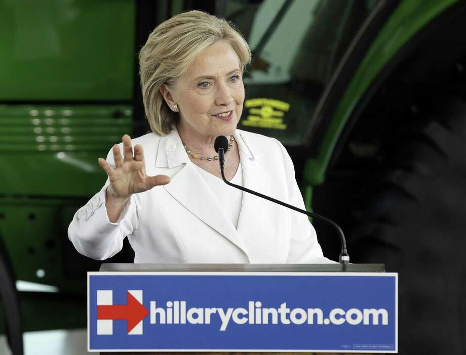 In this Aug. 26 file photo, Democratic presidential candidate Hillary Rodham Clinton speaks in Ankeny, Iowa. Photo: AP Photo   / AP