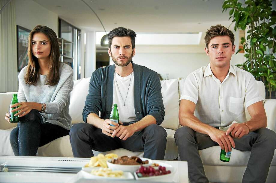 """Emily Ratajkowski, Wes Bentley and Zac Efron, right, in """"We Are Your Friends."""" Photo: Anne Marie Fox — Warner Bros. Pictures   / Warner Bros. Pictures"""