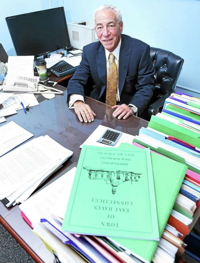 East Haven Finance Director Paul Rizza is photographed in his office at East Haven Town Hall. Photo: Arnold Gold — New Haven Register
