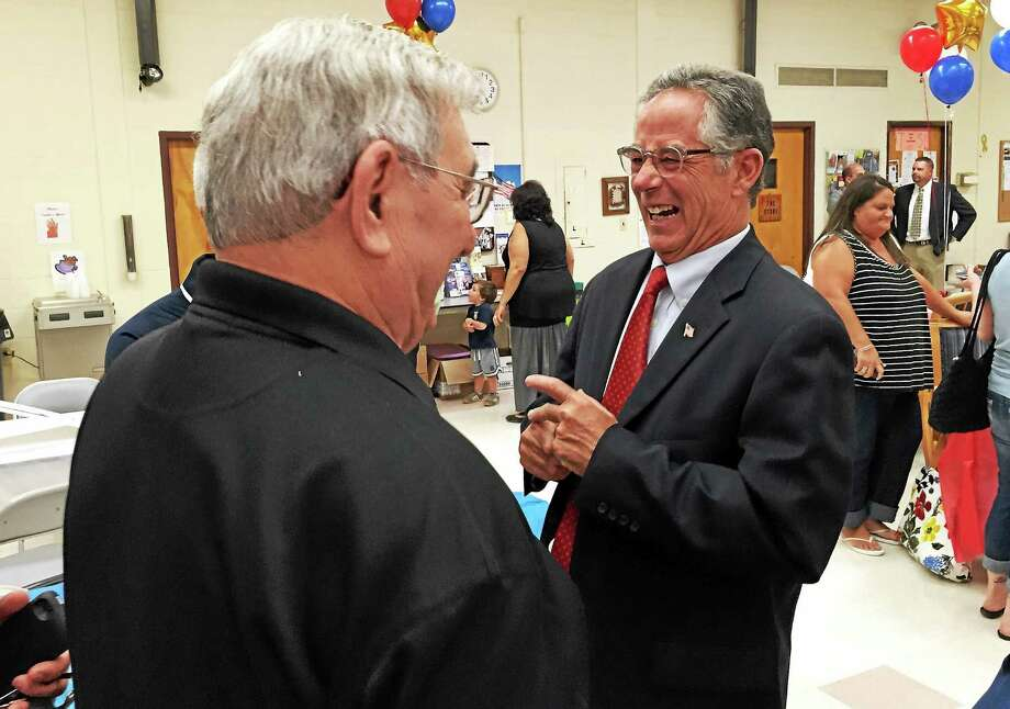 East Haven Mayor Joseph Maturo Jr., after being chosen as the party's mayoral candidate Monday. Photo: Esteban L. Hernandez — New Haven Register