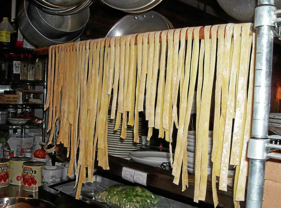 Homemade pappardelle hangs in Basta. Photo: Contributed