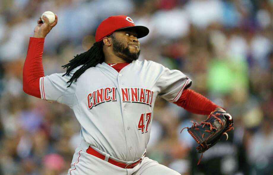 Johnny Cueto was traded to the Kansas City Royals on Sunday. Photo: The Associated Press   / AP