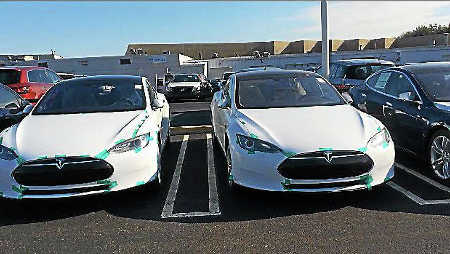 Tesla's Milford service center. Photo: Luther Turmelle — New Haven Register