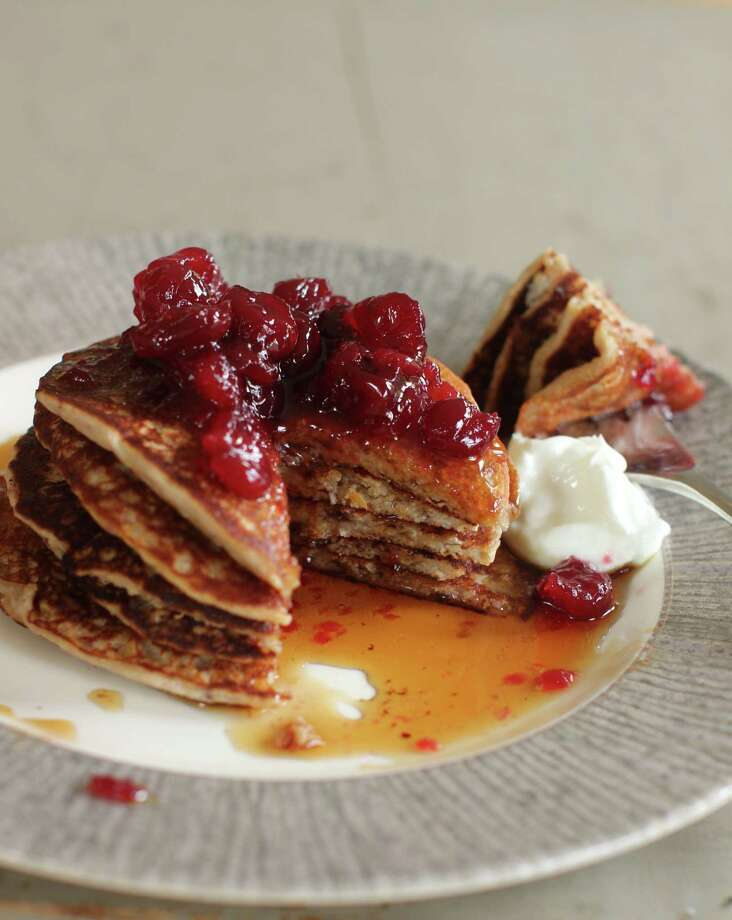 Cranberry Sauce, Oat and Flax Pancakes Photo: Matthew Mead - Associated Press   / FR170582 AP