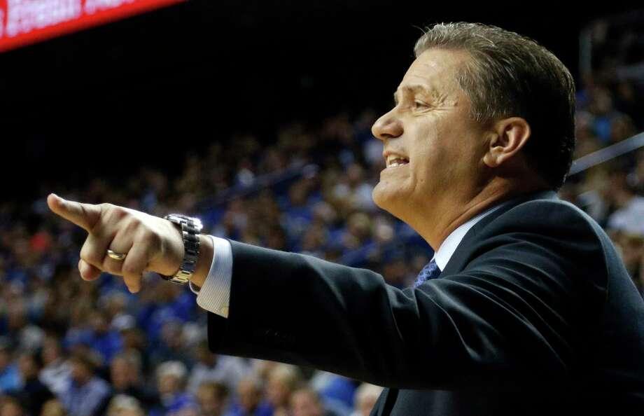 John Calipari's Kentucky Wildcats are the No. 1 team in the nation. Photo: James Crisp — The Associated Press   / FR6426 AP