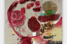"""""""Untitled (Los Besos de tu Amor),"""" by Julian Schnabel, on view at the Glass House in New Canaan."""