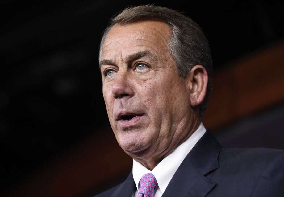 In this July 29, 2015, file photo, House Speaker John Boehner of Ohio speaks during a news conference on Capitol Hill in Washington. According to GOP lawmakers, Boehner to step down end of October. Photo: AP Photo/Susan Walsh, File    / AP