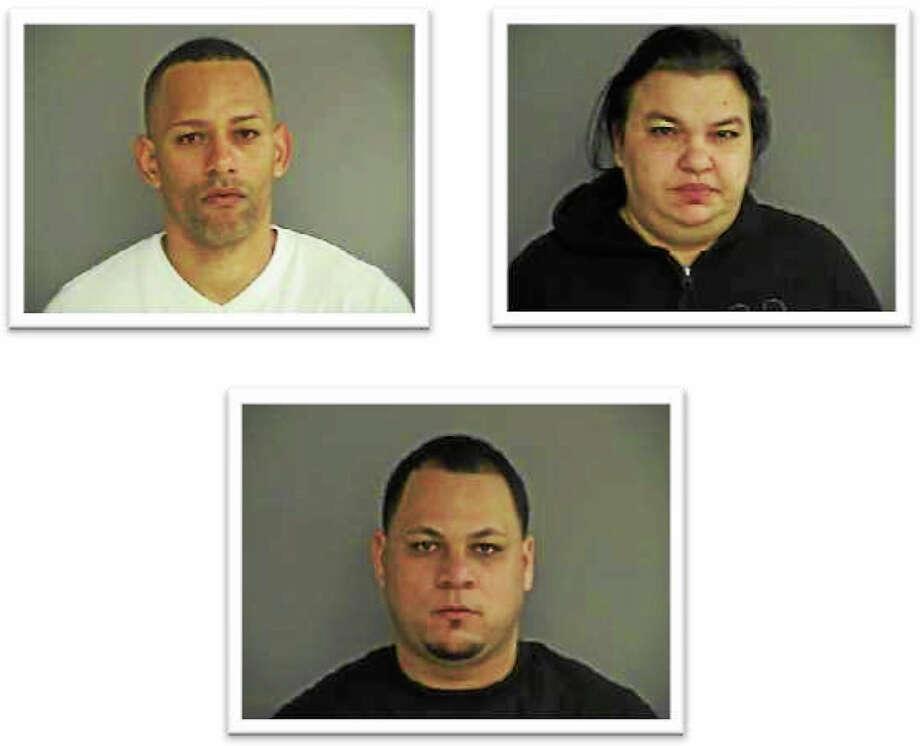 Clockwise from top left, Jose Serrano, Yajaira Rosario and Joel Velazquez. Photo: Courtesy Middletown Police