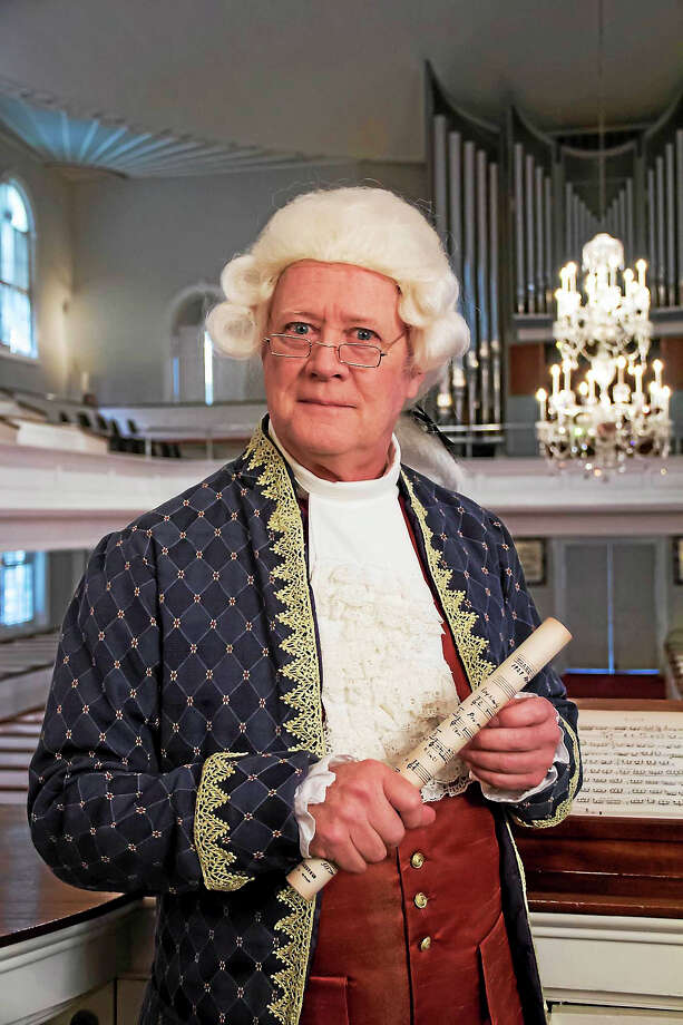 ONE photo  Maestro James Sinclair in his Colonial Concert garb. Photo: Journal Register Co. / ©2014 Barocas Photography, LLC All Rights Reserved
