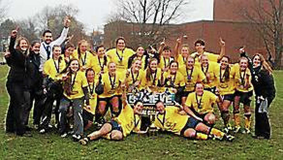 The Quinnipiac women's rugby team beat Army on Sunday to win the national championship. Photo: Photo Courtesy Of Quinnipiac Athletics