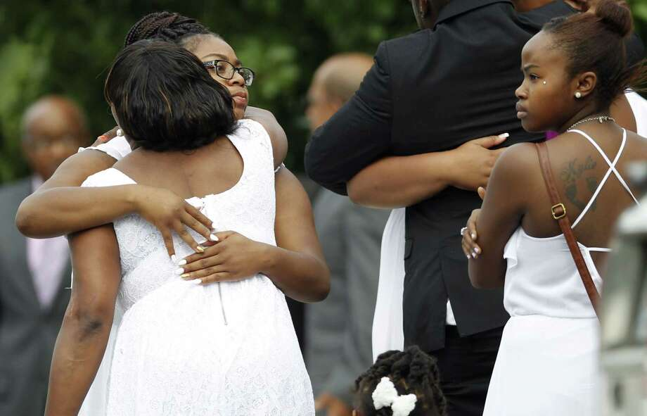 Mourners arrive  at the funeral of Sandra Bland at the DuPage African Methodist Episcopal Church Saturday, July 25, 2015, in Lisle, Ill. Photo: AP Photo/Christian K. Lee  / AP