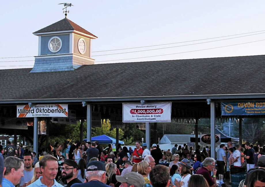 Milford Oktoberfest  Last year's event at the familiar Fowler Pavilion. Photo: Journal Register Co.