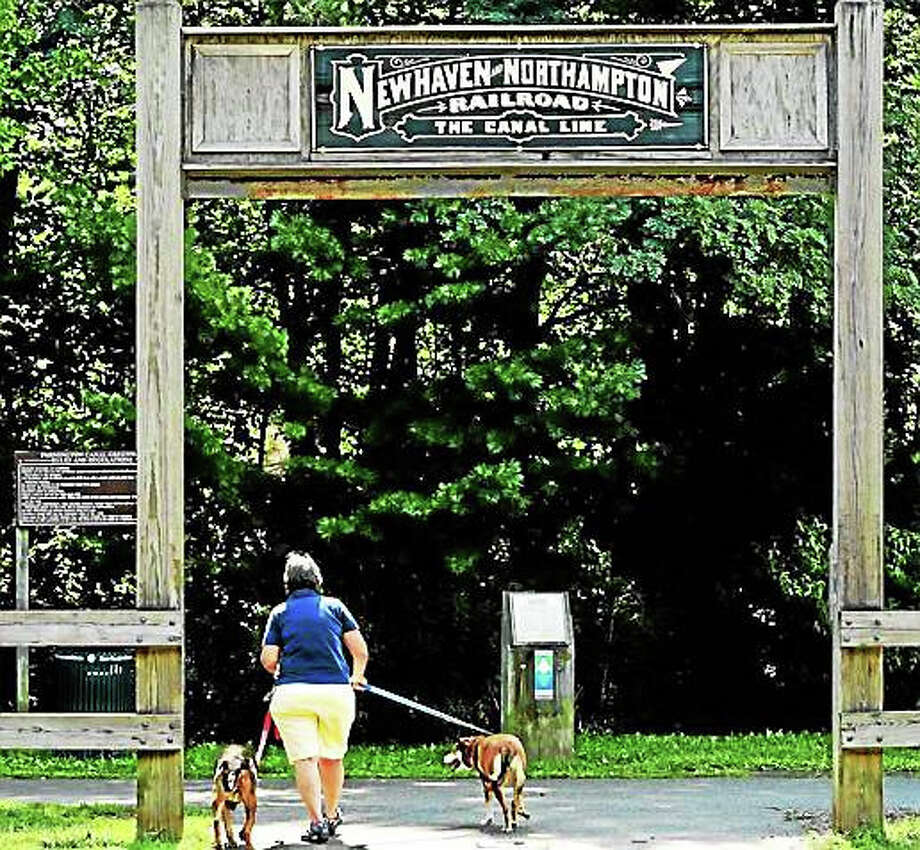 The Farmington Canal Trail by Sherman Avenue near Whitney Ave in Hamden. Photo: Peter Hvizdak — New Haven Register File Photo