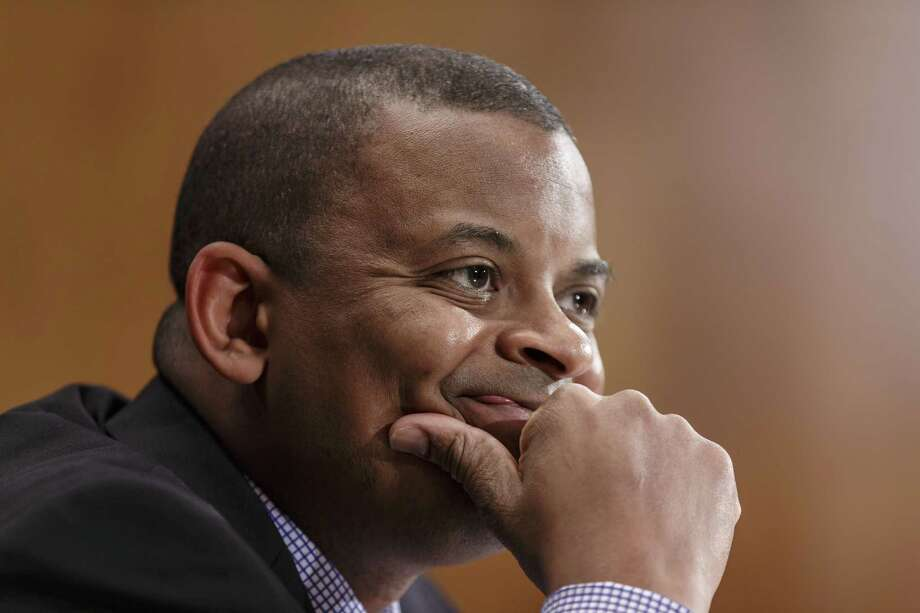 FILE - In this March 13, 2014 file photo, Transportation Secretary Anthony Foxx is shown during testimony before the Senate Transportation subcommittee on Capitol Hill in Washington. Foxx says the government has opened a price-gouging investigation involving four airlines that allegedly raised airfares in the Northeast after an Amtrak crash in Philadelphia in May disrupted rail service.  (AP Photo/J. Scott Applewhite) Photo: AP / AP