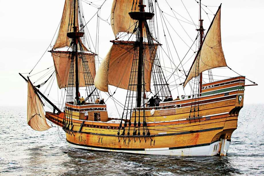 The Mayflower, which carried the Pilgrims to the new world. Photo: PBS