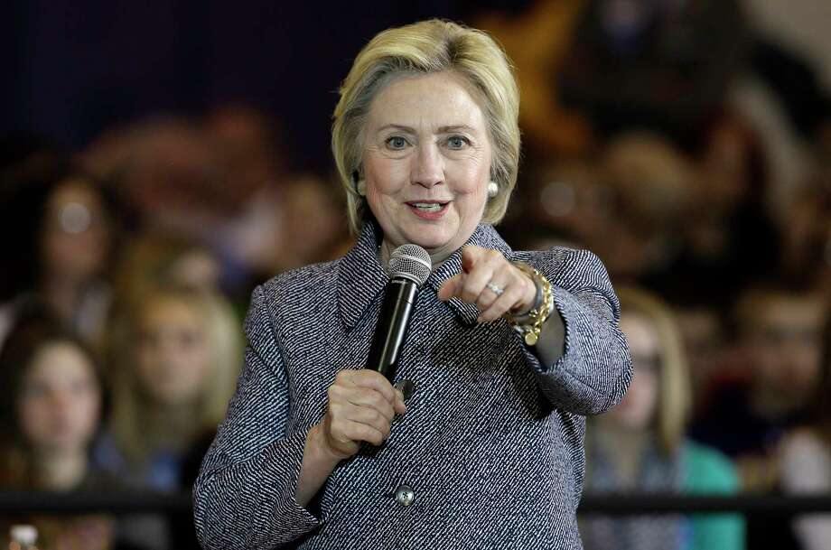 Democratic presidential candidate Hillary Clinton speaks during a town hall meeting at Keota High School, Tuesday, Dec. 22, 2015, in Keota, Iowa. Photo: AP Photo/Charlie Neibergall / AP