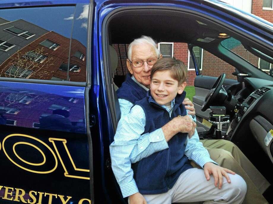"Joseph E. ""Chick"" Celentano and son Luke. Photo: Mark Zaretsky — New Haven Register"