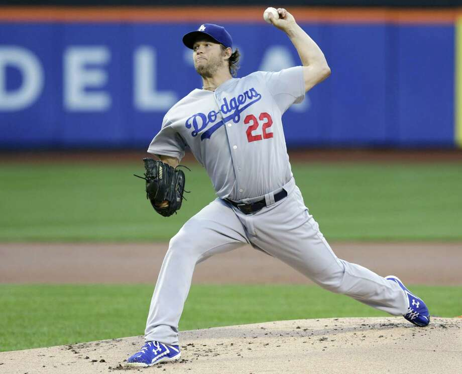 The Dodgers' Clayton Kershaw delivers a pitch during the first inning against the Mets on Thursday. Photo: Frank Franklin II — The Associated Press   / AP
