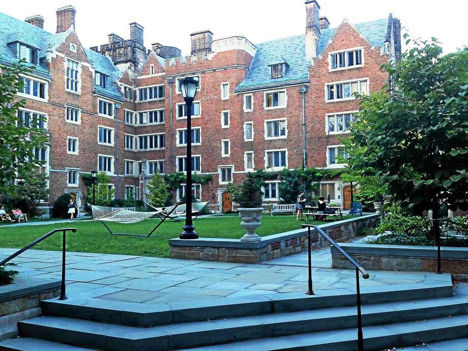 The quad at Calhoun College at Yale University in New Haven. Photo: Ed Stannard — New Haven Register