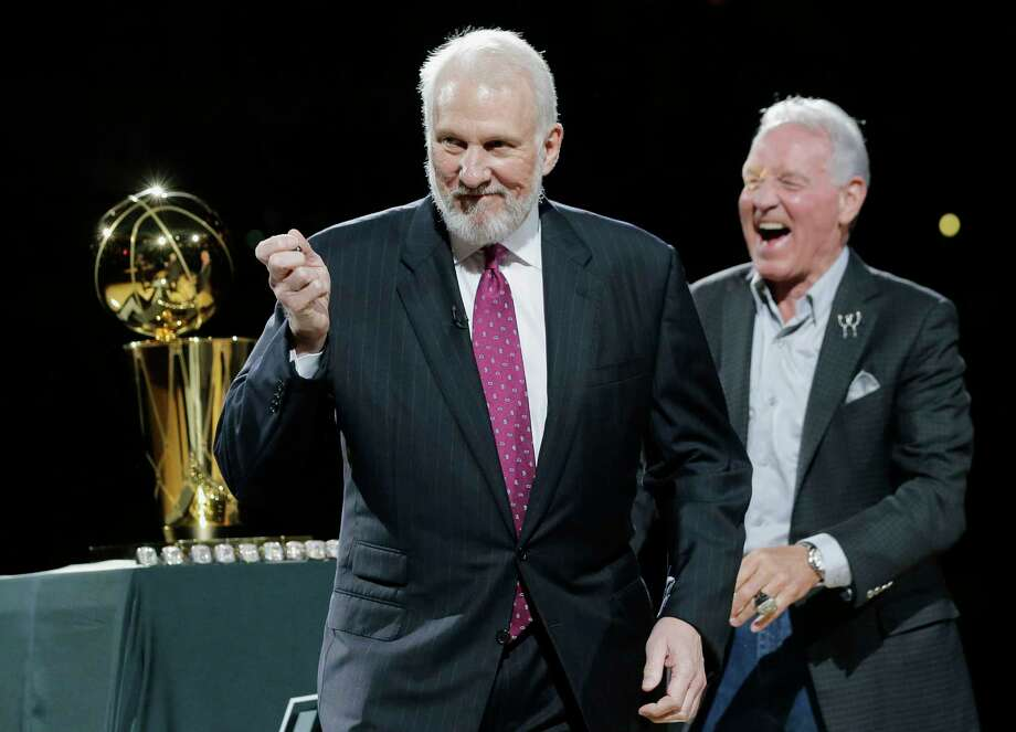 Gregg Popovich, who has led the San Antonio Spurs to five NBA titles, will replace Mike Krzyzewski as the U.S. basketball coach following the 2016 Olympics. Photo: Eric Gay — The Associated Press File Photo   / AP