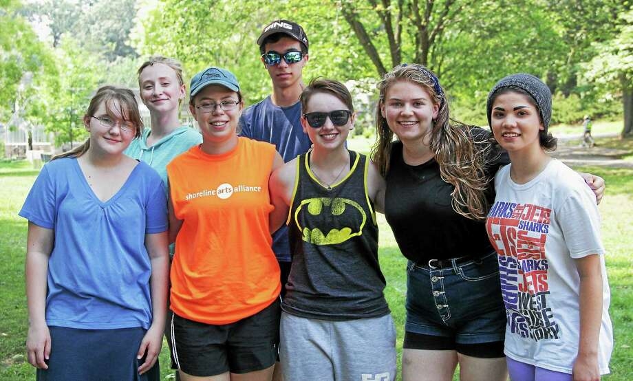 Elm Scholars, from left, Sophia Ginnow, Kathryn Kuhn, Talia Colten, Zane Bendici, Sydnee Drake, Ashley Velleco and Mimi Zschack. Photo: CONTRIBUTED PHOTO — Mike Franzman