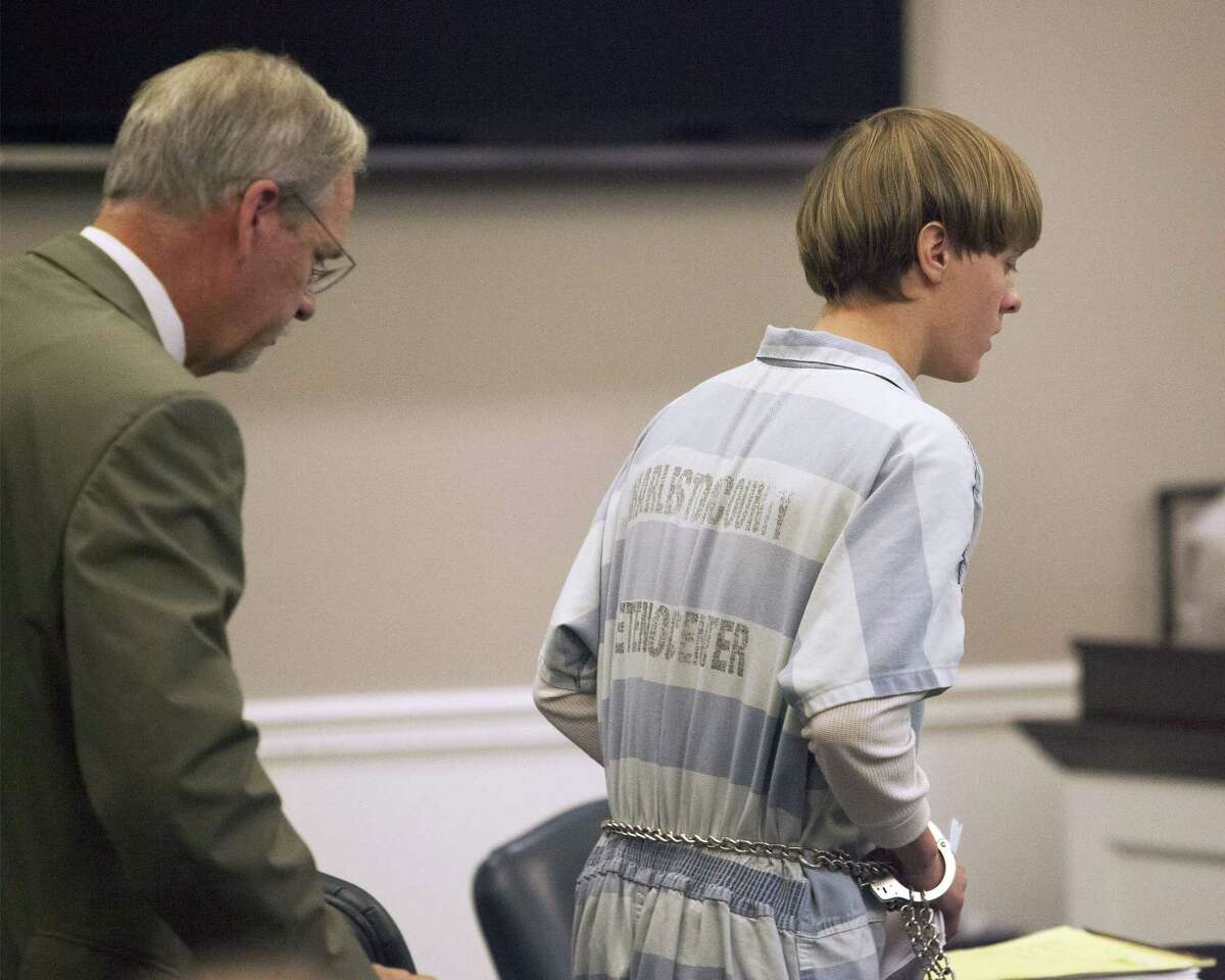 Dylann Roof enters a court hearing in Charleston, S.C., on July 16, 2015. A judge ruled Thursday that Roof, accused of killing nine people at the Emanuel AME Church in Charleston in June, will stand trial in July 2016.