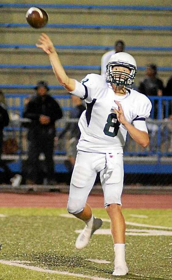 Guilford quarterback Jack Jankura Photo: Dave Phillips -- GameTimeCT