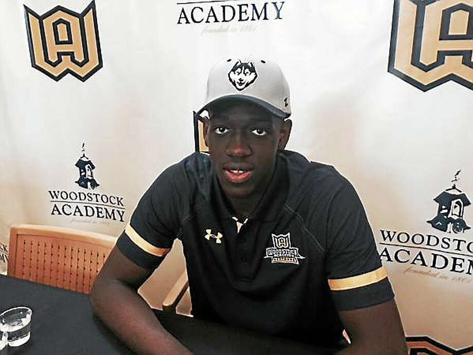 Putnam Science Academy's Mamadou Diarra, a 6-foot-8 power forward who has committed to play at UConn, will compete in this weekend's National Prep Showcase at Albertus Magnus. Photo: Register File Photo