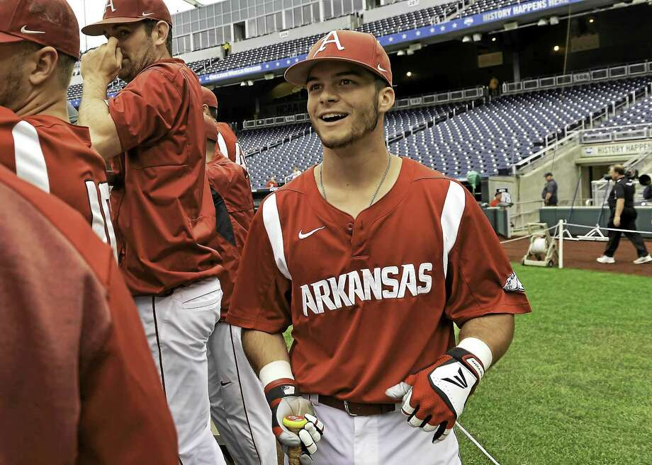 Andrew Benintendi, who was taken seventh overall by the Red Sox out of Arkansas, was recently promoted to Class A Greenville. Photo: The Associated Press File Photo   / FR170180 AP