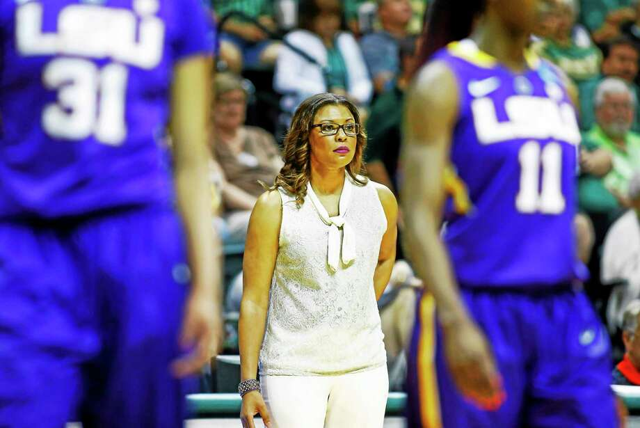 LSU coach Nikki (Caldwell) Fargas was an assistant on the U.S. U-18 team that featured current UConn standouts Breanna Stewart, Morgan Tuck and Moriah Jefferson. Photo: The Associated Press File Photo   / FR170107 AP