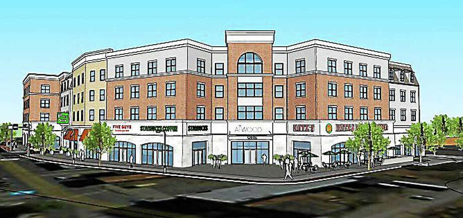 A front image of the proposed apartment development The Atwood. Photo: Journal Register Co.