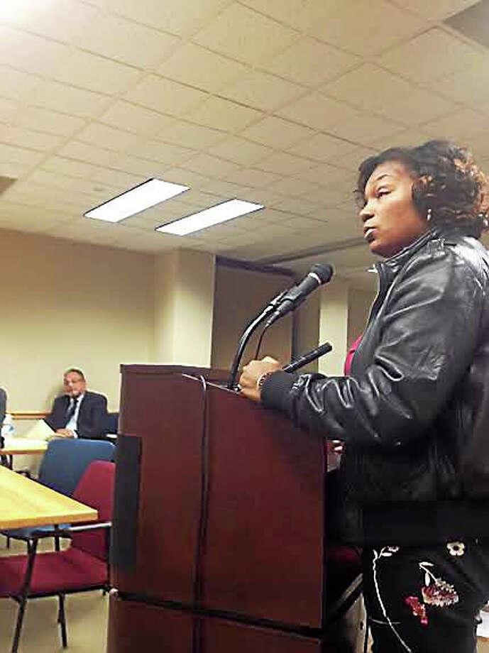 Aldermanic President Tyisha Walker addresses the City Plan Commission. Photo: Mary O'Leary — New Haven Register