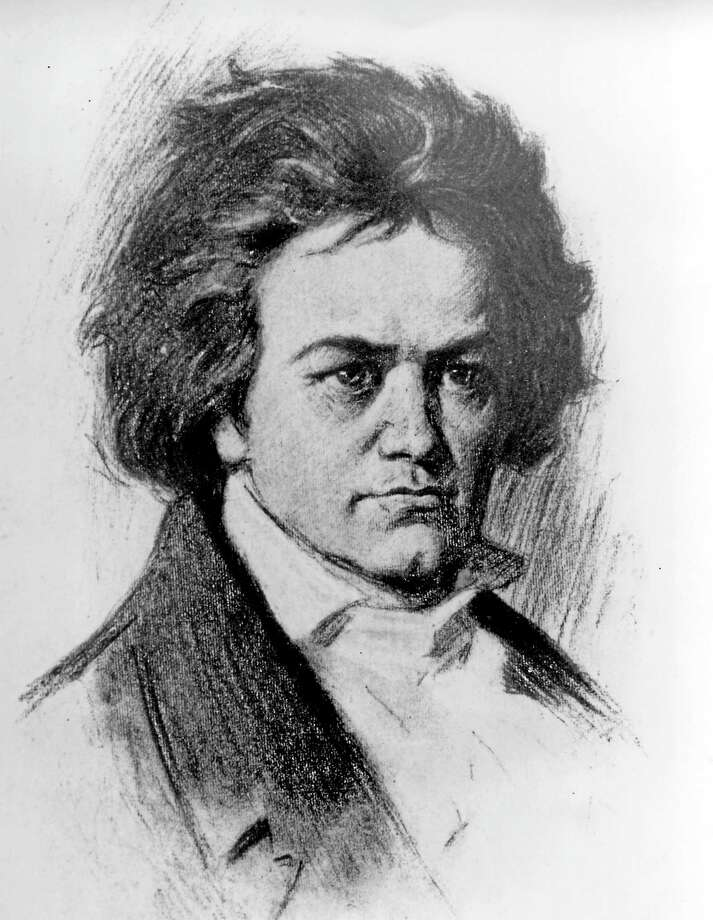 An undated sketch of German composer Ludwig van Beethoven. Beethoven was born in Bonn on Dec. 17, 1770 and died in Vienna on March 26, 1827. Photo: AP Photo