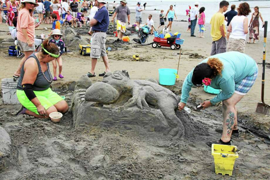 More than 50 sand sculptors are expected for this year's Sand Sculpture Competition in Milford. Photo: Stu Foster — Milford Arts Council