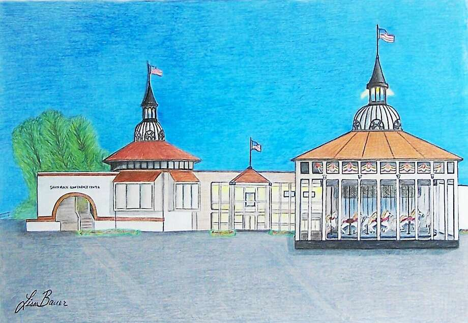 An artist's rendering courtesy of the Carousel Committee of a proposed addition to the Savin Rock Conference Center for the proposed Savin Rock carousel. Photo: Journal Register Co.