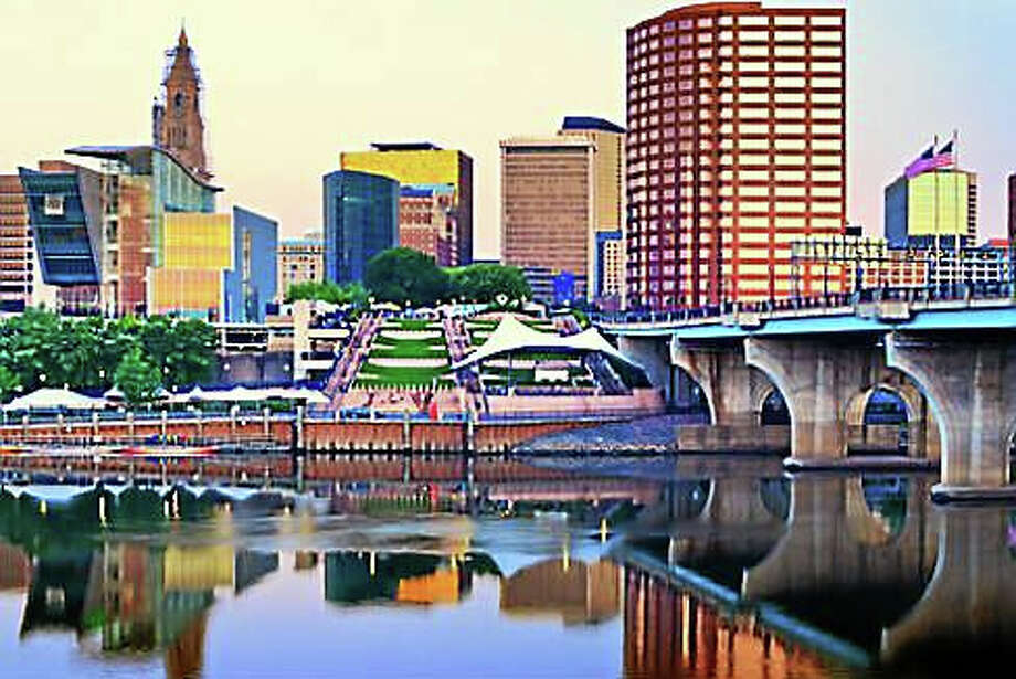A view of downtown Hartford from the Connecticut River. Photo: SHUTTERSTOCK
