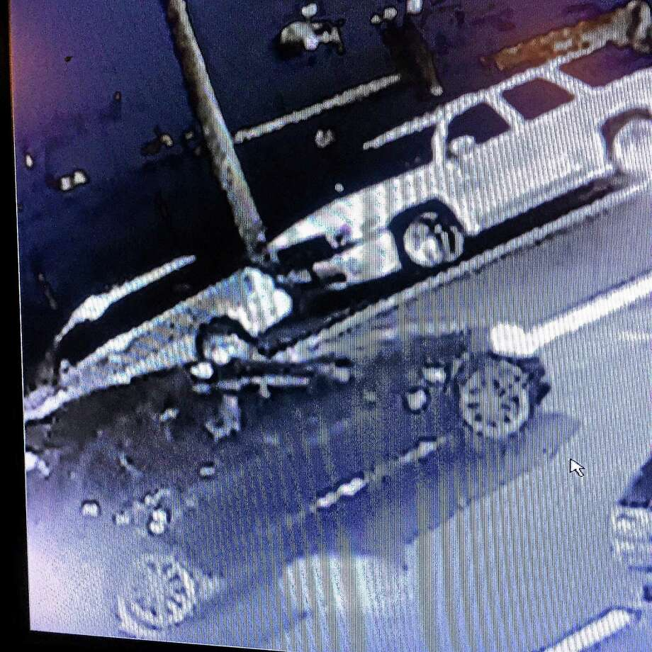Shelton investigators are asking the public to help identify a black car that was near the scene of a hit-and-run accident Aug. 14 near the intersection of Howe Avenue and Bridge Street. Photo: Photo Courtesy Of The Shelton Police Department