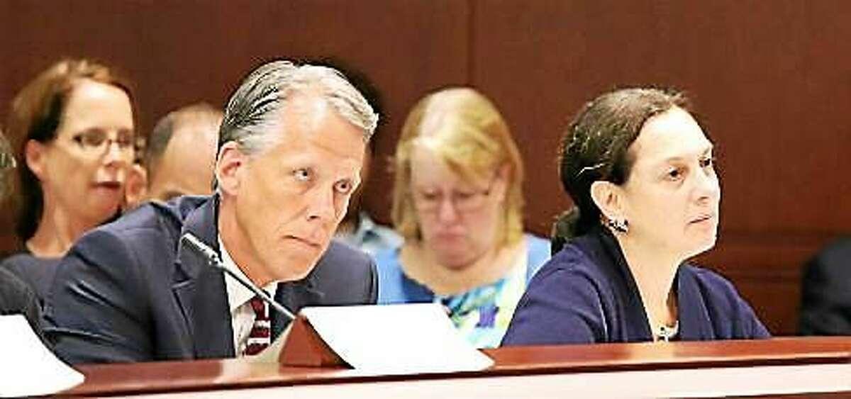 William Rosenbeck, superintendent of CJTS and DCF Commissioner Joette Katz
