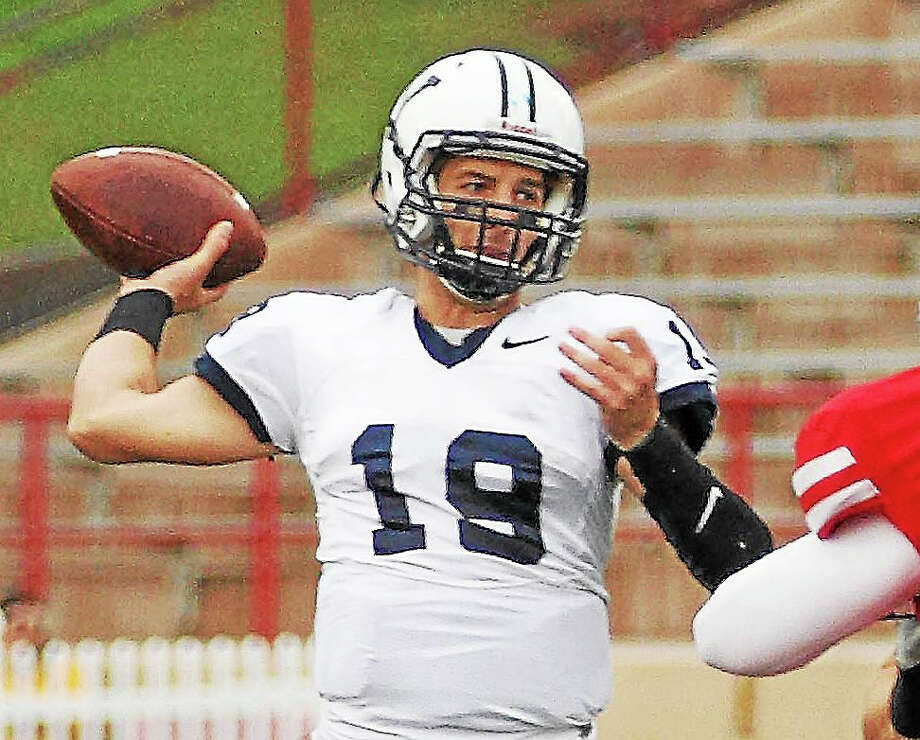 Senior quarterback Morgan Roberts has one game remaining in his Yale career. The Bulldogs host Harvard on Saturday. Photo: Register File Photo   / 2014 All Rights Reserved