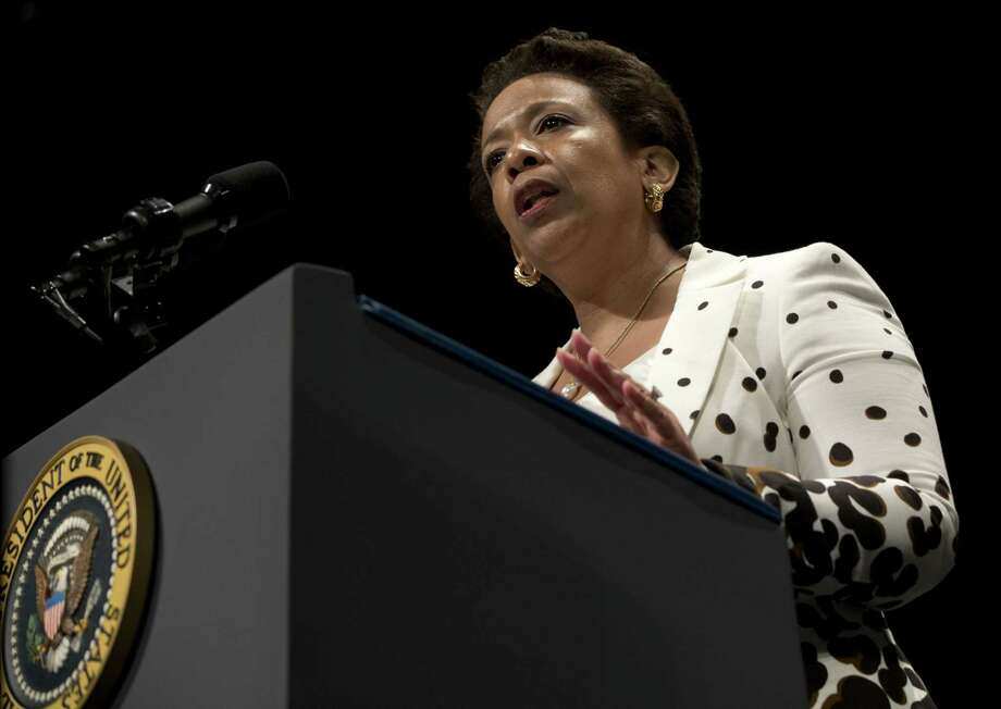 Attorney General Loretta Lynch speaks during her investiture ceremony on June 17, 2015 at the Warner Theatre in Washington. Photo: AP Photo/Carolyn Kaster   / AP