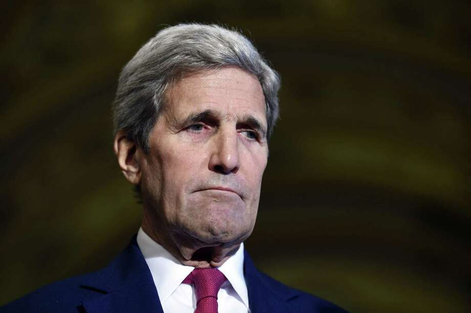 Secretary of State John Kerry listens as others speaks to reporters following a meeting on Capitol Hill on Sept. 9, 2015. Photo: AP Photo/Susan Walsh   / AP