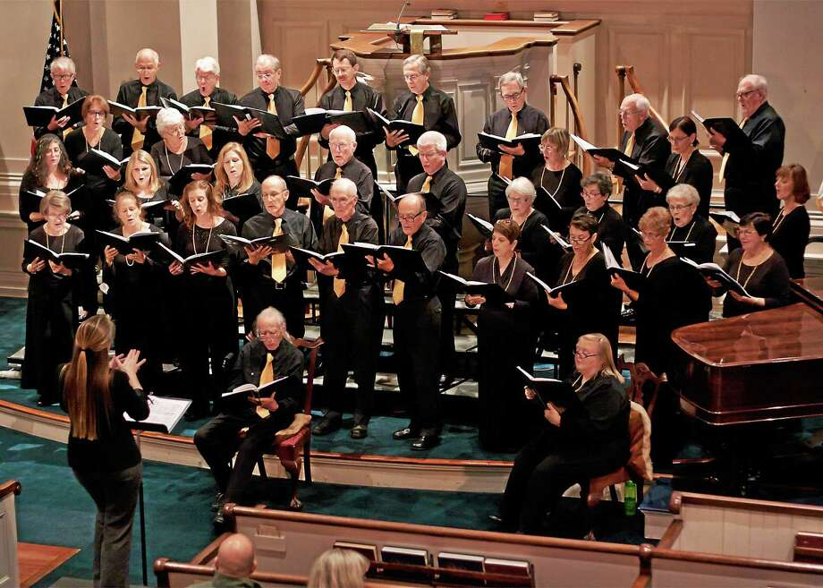 The Shoreline Chorale in action at a recent concert. Photo: Contributed   / Copyright:  Property of Riverstone Images