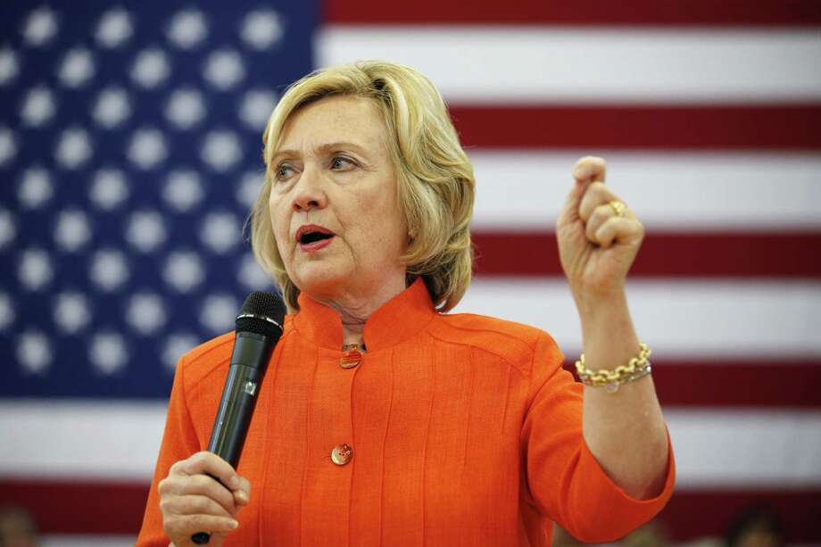 In this Aug. 18, 2015, file photo, Democratic presidential candidate Hillary Rodham Clinton speaks at a town hall meeting Tuesday, Aug. 18, 2015 in North Las Vegas, Nev. Clintonís frank exchange with black activists underscores the core of her approach to politics: She prefers pragmatism over passion. Photo: AP Photo/John Locher, File / AP