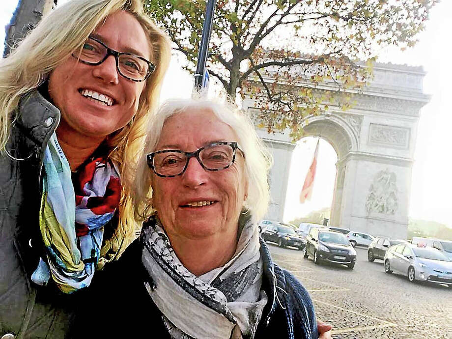 Contributed photoSelfie of Liza Janssen Petra and her mom, Betsy Frederick at Arc de Triomphe Nov. 12, the day before the attacks on Paris. Photo: Journal Register Co.